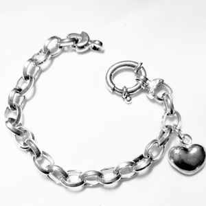 SILVER 925 BRACELET WITH HEART CHARM